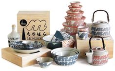 A ceramic collection designed by House Industries for Hasamiyaki in Japan.