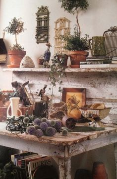 That is one rustic kitchen...and that table......