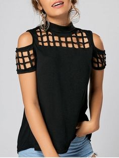 37 Women T-Shirts To Look Cool And Fashionable 2019 - Fashion Moda 2019 Modest Fashion, Diy Fashion, Fashion Outfits, Fashion Tips, Womens Fashion, Fashion Trends, Ladies Fashion, Diy Cut Shirts, Diy Shirt