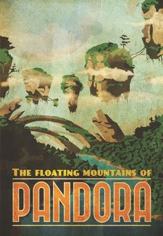Vintage Travel Poster for Pandora by Jesse Tamayo
