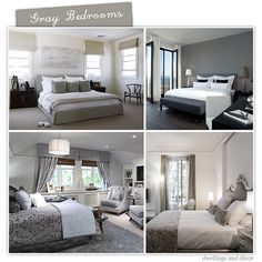 In this post, we will discuss best gray bedroom decoration ideas. So those people who wants to do gray bedroom decoration should check out this post. Gray Bedroom, Bedroom Decor, White Bedrooms, Bedroom Ideas, Gray Rooms, Master Bedroom, Bedroom Designs, Bedroom Inspiration, My New Room