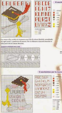 GRAFICOS PUNTO DE CRUZ GRATIS : GRADUACION Y PERGAMINO(13)