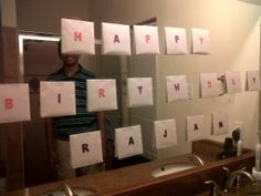 Birthday Surprise. I like this idea. Could wrap something special in them like notes or pictures