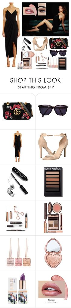 """Alison Sutter Little Black Dress"" by alisonxsutter ❤ liked on Polyvore featuring Gucci, Sonia Rykiel, Shona Joy, GUESS, Bobbi Brown Cosmetics, Charlotte Tilbury, Christian Louboutin, Too Faced Cosmetics, Teeez and LittleBlackDress"