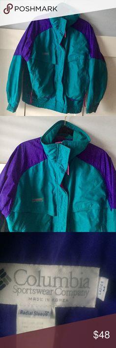 b6dfeac5 Columbia Retro Vintage color block winter jacket M Columbia Retro Vintage  color-block winter jacket