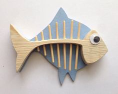Beach House Fish Bathroom Shabby Chic Anglefish Wooden Driftwood Light Blue – Home Decor Wooden Fish, Wooden Art, Wooden Crafts, Fish Crafts, Beach Crafts, Diy And Crafts, Wood Projects, Woodworking Projects, Craft Projects