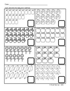 Fall Counting Activity Sheet (Up to 20 objects)