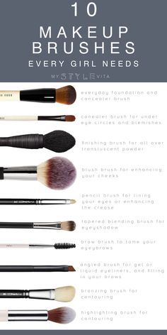 10 Best Makeup Brushes To Have - My Style Vita