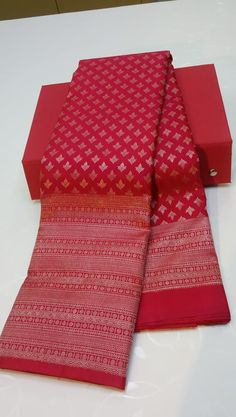 South Indian Bride Saree, Indian Bridal Sarees, Bridal Silk Saree, Indian Silk Sarees, Saree Wedding, Kanjivaram Sarees Silk, Blue Silk Saree, Banarsi Saree, Red Saree