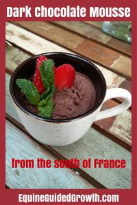 Our region has many famous and favourite desserts, like the Croustade aux Pommes et à L'Armagnac, a fruit tart that is not difficult to make but does take a fair amount of time. For our mindf… Dark Chocolate Mousse, Chocolate Pudding, Yummy Treats, Yummy Food, Ripe Avocado, Fruit Tart, No Bake Desserts, Great Recipes, Tasty