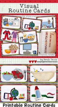 Schedule Cards | Rein-in the tantrums and help kids know what to expect with adorable printable routine cards!!