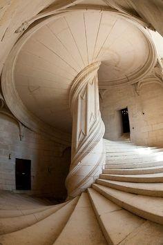 (via Architecture: Staircases / Chateau-de-la-rochefoucauld stairway.)    (via Architecture: Staircases / Chateau-de-la-rochefoucauld stairway.)