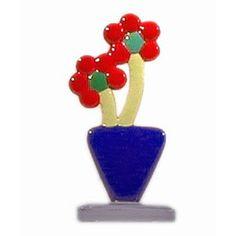 murano glass double flower