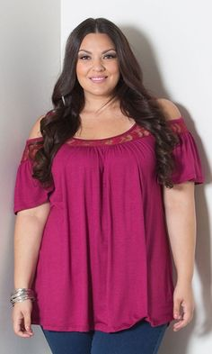 522b09fe180 Sealed With A Kiss Designs Plus Size Stacy Cold Shoulder Top (Tropical) -  Size Mint