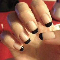reverse french manicure - Google Search