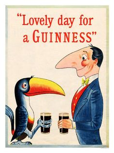 Lovely-Day-For-A-Guinness-Classic-Poster-Print-New