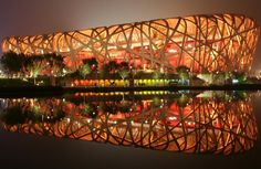 Beijing National Stadium, officially the National Stadium, also known as the Bird's Nest (鸟巢 Niǎocháo). The stadium was designed for use throughout the 2008 Summer Olympics and Paralympics. — in Beijing, China. Stadium Architecture, Online Architecture, Cabinet D Architecture, Contemporary Architecture, Amazing Architecture, Architecture Design, Auditorium Architecture, China Architecture, Cultural Architecture