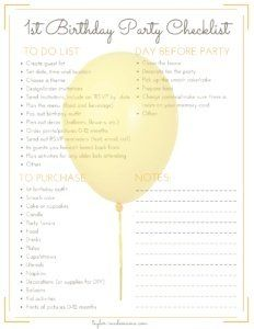 Get Updates Sent Straight To Your Inbox! Enter your email address to access the free, printable1st Birthday Party Planning Checklist   Share the love!