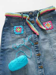 Crocheted patches...cute idea
