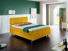 Dieses Bett überzeugt Durch Moderne Optik Und Hohen Schlafkomfort. Das  Boxspringbett Rifft Mit Der Trendfarbe
