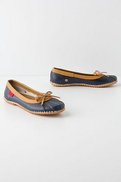 Duckie Rain Flats #anthropologie - These are so much cuter than the Duckies I wore as a kid!