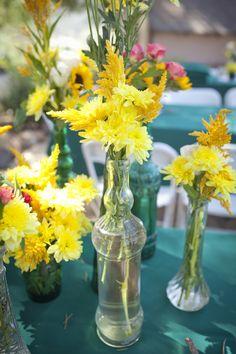 teal & flowers