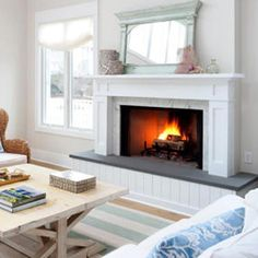 fireplaces with bluestone slabs - Google Search | Fireplace Reno ...
