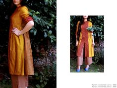 summer shades..multi checkered tunic #cotton #springsummer #fashion #streetstyle #ikat #summer #checks #teadress #cotton #vintage #chanderi #cape #orange #floral #tunic #mustard https://www.facebook.com/itrbykhyati