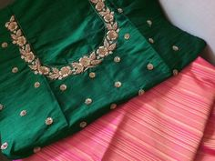 You can access more content by visiting the site. Have fun. Hand Work Blouse Design, Simple Blouse Designs, Stylish Blouse Design, Fancy Blouse Designs, Bridal Blouse Designs, Blouse Neck Designs, Embroidery Suits Design, Embroidery Blouses, Zardozi Embroidery