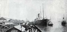 R.M.S. Cedric, Twin-Screw, 21,000 Tons at Liverpool Landing Stage