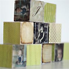 Love these photo blocks from PhotoBarn. They are a fabulous idea  for a kids room or any room.