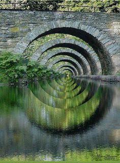 Optical Illusion Stone Bridge
