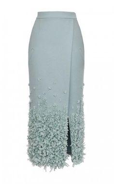 ~ Living a Beautiful Life ~ Embellished Heavy Cloth Midi Skirt by Ruban for Preorder on Moda Operandi Modest Fashion, Hijab Fashion, Trendy Fashion, Fashion Dresses, Blouse And Skirt, Dress Skirt, Midi Skirt, Elegantes Outfit Frau, Office Skirt