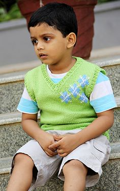 Boy's vest from Petite Purls.com--great Kid knits site