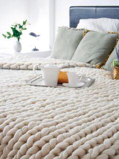 Manta de lana merina Knitting Noodles en Nuevo Estilo