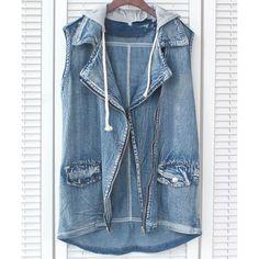 Pockets Design Letter Print Irregular Hem Zipper Up