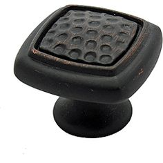 @Overstock - GlideRite Oil Rubbed Bronze Rounded Square Dimpled Cabinet Knobs (Pack of 25) - Give cabinetry an industrial flair with this pack of 25 cabinet knobs. These knobs feature an oil-rubbed bronze finish, reminiscent of an industrial look. The knobs are complemented with a dimpled motif and are versatile for any style cabinetry.    http://www.overstock.com/Home-Garden/GlideRite-Oil-Rubbed-Bronze-Rounded-Square-Dimpled-Cabinet-Knobs-Pack-of-25/6348136/product.html?CID=214117  $51.99