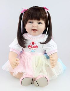 """83.14$  Buy here - http://alicd0.worldwells.pw/go.php?t=32381706189 - """"55cm New Born Baby Soft Silicone Reborn Baby Doll Girl Toy 22"""""""" High-end Girl Gift Toy Clothing Model"""""""