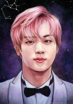 Jin so beautiful ♥♥ Rap Monster Tumblr, Bts Jin, Bts Bangtan Boy, K Pop, Seokjin, Bts Drawings, Bts Chibi, Kpop Fanart, Worldwide Handsome