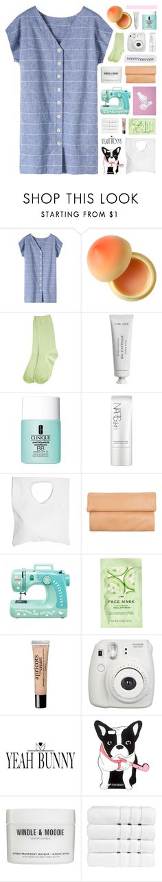"""i live my life inside a dream"" by hhuricane ❤ liked on Polyvore featuring Toast, Tony Moly, Byredo, Clinique, NARS Cosmetics, Jennifer Haley, 1&20 Blackbirds, Hello Kitty, H&M and philosophy"