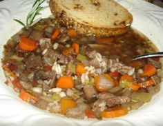 Beef Barley Soup~recipe