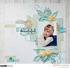 Kaisercraft Christmas Wishes Layout by Alicia McNamara Scrapbook Expo, Scrapbook Journal, Scrapbook Sketches, Scrapbook Albums, Scrapbook Layouts, Scrapbooking Ideas, Smash Book Pages, You Are Beautiful, Christmas Wishes