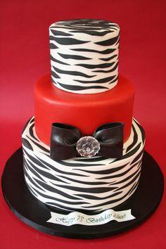75th Birthday Cakes New York - Zebra Stripes Custom Cakes  ....or graduation party cake!