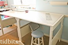 Plans for the perfect cutting/craft table (and it's portable). I WILL have this in my next craft room!