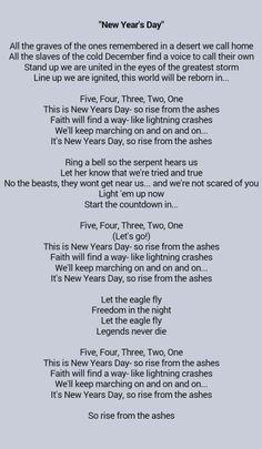 New year's day bvb lyrics