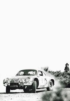 Sliding Alpine Rally Car