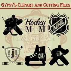 Hockey SVG Hockey Monogram Hockey Player Hockey by GypsysClipart