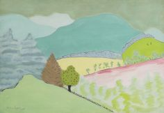 thunderstruck9:  Milton Avery (American, 1885-1965), Spring in Vermont, 1945. Oil on canvas, 36 x 52 in.