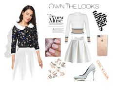 """chic look"" by moniquevincent ❤ liked on Polyvore featuring New Look, Chicwish, Oscar de la Renta and Casetify"