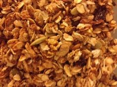 Pumpkin Granola-really yummy!  I doubled the nutmeg because I love the taste of nutmeg.  Kids thought it was delicious!